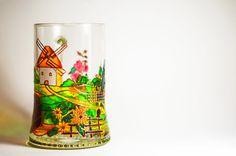 Painted Beer Glasses - Ukrainian Folk Beer Mug - Hand Painted Glass Beer Mug - Father Day Gift -   Glasswares - Personalized Mugs