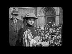 Slachta Margit, az első magyar női képviselő átveszi a mandátumát (1920. március 28.) - YouTube