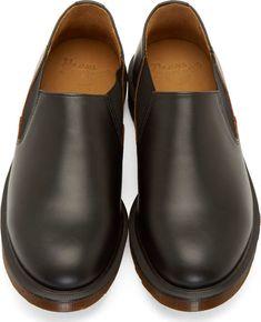 Dr. Martens Black Leather Louis Slip-On Shoes