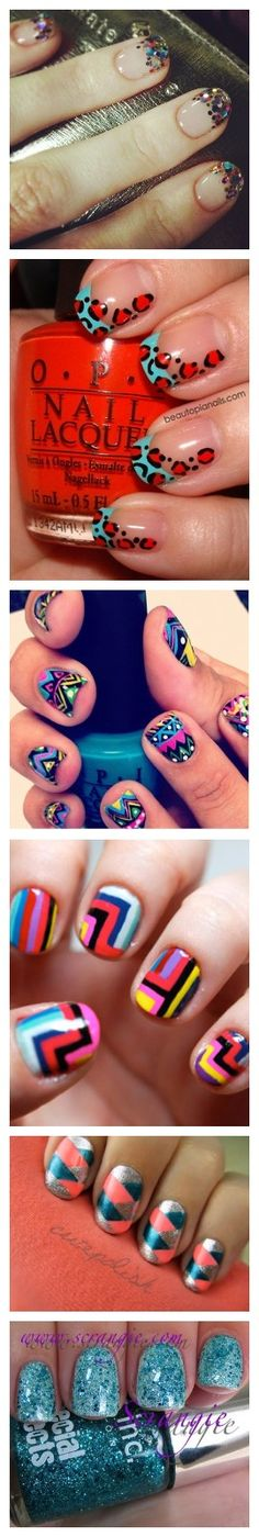 OH.  MY.  GOD.  I ABSOLUTELY LOVE THE TOP ONE.  HELLO, NEW YEAR'S.  Simple Nail Designs