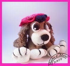 Amigurumi Crochet Hat Dog Free Pattern - Amigurumi Free Patterns and Amigurumi Tutorials Amigurumi Tutorial, Amigurumi Patterns, Crochet Patterns, Crochet Toys, Crochet Baby, Sombrero A Crochet, I Like Dogs, Stuffed Toys Patterns, Doll Toys