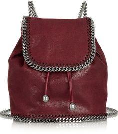 Stella McCartney The Falabella mini faux brushed-leather backpack
