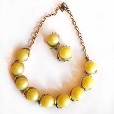 '40s Moonglow Necklace & Earrings.