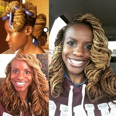 I need to try this style.  live . laugh . love . locs : Photo