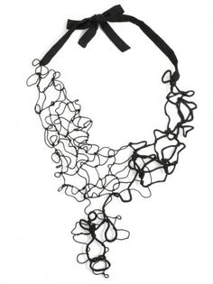 Maria Calderara-collier cordino nero-black strings neacklace-Maria Calderara 2014 shop online