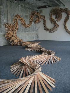 Barbara Holmes installation in progress
