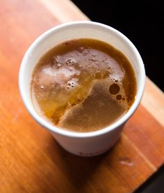 """NYT Cooking: """"Bone broth"""" has become stylish as part of the Paleo diet, which enthusiastically recommends eating meat and bones. (The idea is to eat like our Paleolithic, pre-agricultural ancestors.) But cooks have known its wonderful qualities for centuries. This robust and savory beef broth — more than a stock, less than a soup — can be the basis for innumerable soups and stews, but it also makes a satisfying and nourishing snack on its own. Bone Broth Soup, Beef Broth, Beef Recipes, Soup Recipes, Cooking Recipes, Cooking Beef, Beef Tips, Beef Bones, Roasted Meat"""