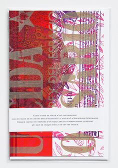 Overprinted greeting card... by La Bourgeoise Sérigraphe