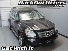 Mercedes-Benz GL Thule Rapid Crossroad BLACK AeroBlade Roof Rack '06-'14*