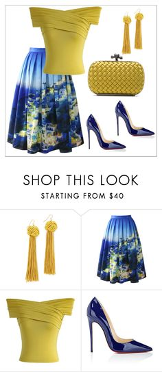 """""""Untitled #349"""" by chanlee-luv ❤ liked on Polyvore featuring Vanessa Mooney, Chicwish, Christian Louboutin and Bottega Veneta"""