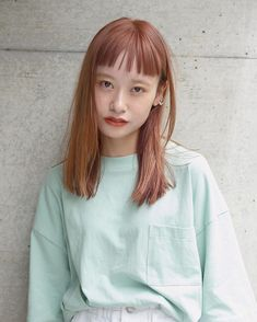 Shot Hair Styles, Cute Haircuts, Haircut For Older Women, Japanese Hairstyle, Asian Hair, Face Hair, Hairstyles With Bangs, Dyed Hair, Hair Inspiration