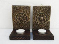Pair Of Rustic Decorative Wall Candle Sconces by RegalosRusticos