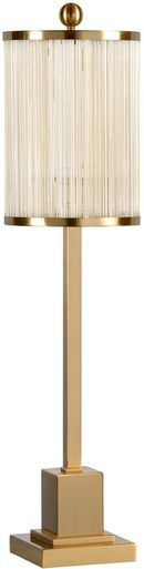 Table Lamp WILDWOOD LAMPS PARK AVENUE 1-Light Tarnished Brass Acrylic Ir WL-2382