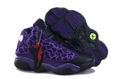 Michael Air Jordan 13 Kid Shoes - Purple Leopard and Black 50427 CAD95.97  Nike 7f2ec82a9341b
