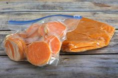 Sweet potatoes are easy to prepare for freezing following these cooking steps. Freeze sweet potatoes mashed, baked, or partially baked and sliced or diced.