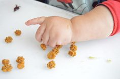 Emerson is 11 months old and he just loves to feed himself. I'm always  looking for yummy healthy things to give him to snack on in his high chair  while I'm bustling around the kitchen or something I can bring on the go. I  came across a few homemade puffs recipes and I decided to create one of my  own using my sons two favorite foods: sweet potato and banana. They were so  yummy even I had a few!      * 1 very large organic sweet potato or 2 medium ones     * 1 banana     * 1 cup of…