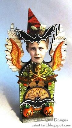 FRIENDS in ART: A Little Witch Halloween Inspiration Fairy Shrine from Retro Cafe Art Gallery.