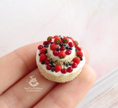 Miniature cake for dolls and doll houses. от SweetMiniDollHouse