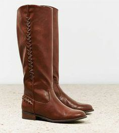 These brown riding boots are LOVELY! The side detail is exquisite