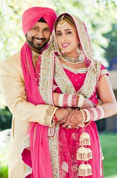 Punjabi Sikh Wedding =) light and bright! -- this is why i love sikh weddings pink and red (=