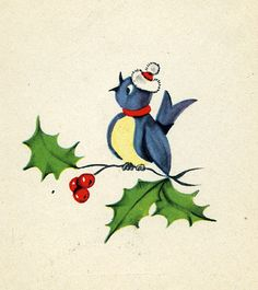 Santa Bird | This is on the inside of a 1951 Hawthorne House… | Flickr