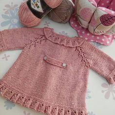 #çocuk #hırka #simli #pullu #fırfırlı #örgü #knitting #elisi #handmade