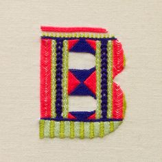 Stitched Letters: Richly Embroidered Typography
