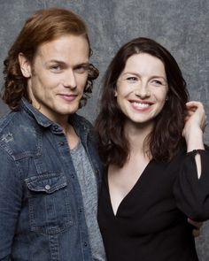 sam and caitriona-#king and Queen of comic con 2015