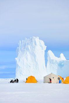 hut on baffin island in nunavut canada