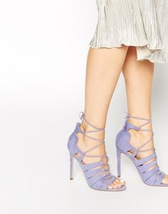 ASOS HEARTBREAK HOTEL Lace-up Heeled Sandals