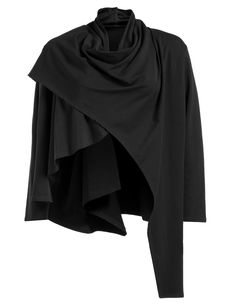 Isolde Roth cotton jacket in Cape optics in Black