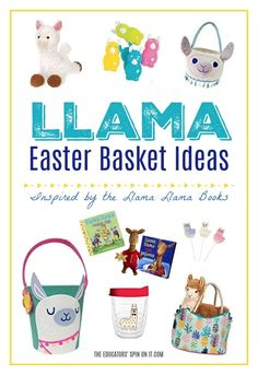 Llama Easter Basket Ideas for Kids inspired by the book series Llama Llama. Includes adorable Llama Themed Easter Basket Filler Ideas your child will love this Spring. #easterbasket Stem Activities, Activities For Kids, Reading Activities, Create Your Own Book, Llama Gifts, Kids Inspire, Buy Toys, Easter Crafts For Kids, Basket Ideas