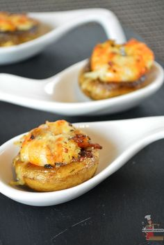 Champignons farcis aux crevettes à la Plancha Eno, une belle recette festive pour les fêtes de fin d'année de la blogueuse @lolibox