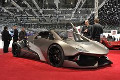 "Video: Cars - Sbarro ""Evoluzione"" - The French showing Lamborghini how it's done, with their Espera Sbarro ""Evoluzione"" creation (Geneva 2010-2011). This concept car was produced by the students of the promotion 2010-2011 in 3 months and was equipped with an Audi 1.8 Turbo 180 hp engine, and 20-inch wheels. With its flush 'center-driving' position, low ground and visible engine, Evoluzione evokes both car and motorcycle with a 'Lamborghini-look' to it. For more information about this school…"