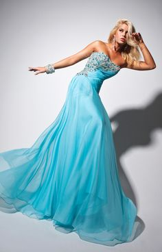 Green Pageant Chiffon Prom Dress Design Like (Le Gala 113553  Prom Dress) only $359.99 toppromqueen.com