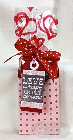 Envelope Punch Board Mini Box with a Treat for Valentines!