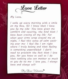 Love Letters from Heart - Express your love through best Valentine love letters and famous sample love letters with ideas about how to write funny love letter. Funny Love Letters, Love Letters Quotes, Romantic Love Letters, Romantic Love Quotes, Love Letter To Girlfriend, Letters To Boyfriend, Boyfriend Poems, Letter To My Love, Boyfriend Texts