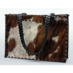 One of a kind brindle tri-color Leather Handbag | Hand-Made in the USA | Tom Taylor Buckles