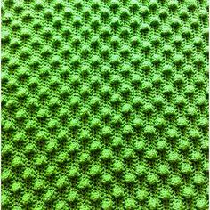 Spring green bobble baby blanket. Fun to make!