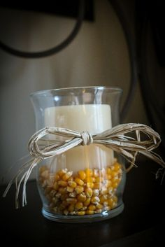 Fall candles from dollar tree items! Love!