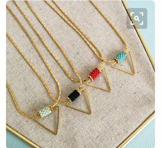 Bead tube as bail Seed Bead Jewelry, Pendant Jewelry, Diy Jewelry, Beaded Jewelry, Handmade Jewelry, Jewelry Design, Jewelry Making, Jewellery, Beading Tutorials