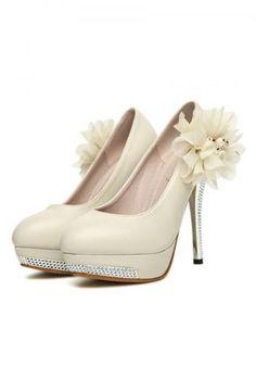 Womens shine flower platforms-high heels find more women fashion ideas on www.misspool.com
