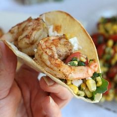 Fresh Grilled Shrimp and Corn Tacos (gluten-free) by MomFoodie  #Tacos #Shrimp #Corn
