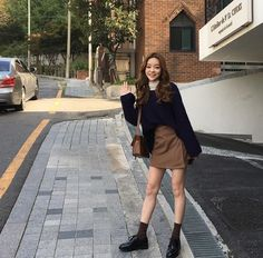 summer date outfits Korean Fashion Minimal, Asian Fashion, Look Fashion, Fashion Beauty, Girl Fashion, Winter Fashion, Fashion Outfits, Pretty Outfits, Fall Outfits