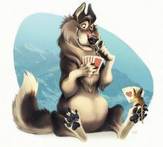 ArtStation - Poker-playing animals, Hedvig H-S