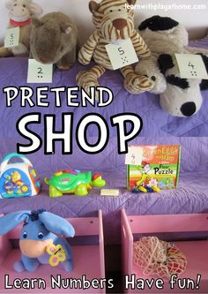 Learn with Play @ home: Learning Numbers. Pretend Shop
