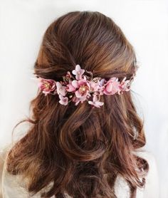 dusty pink hair accessories