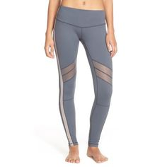 Zella 'Live In - Spectrum' Leggings ($37) ❤ liked on Polyvore featuring activewear, activewear pants, grey graphite, zella activewear, zella sportswear and zella