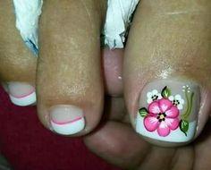 Pedicure Nail Art, Toe Nail Art, Toe Nails, Flower Pedicure Designs, Cute Pedicures, Vacation Nails, Toe Nail Designs, Summer Nails, Pretty Nails