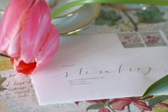 Monograms and Signets Envelope, Place Cards, Place Card Holders, Calligraphy, Ink, Paper, Monogram, Envelopes, Lettering